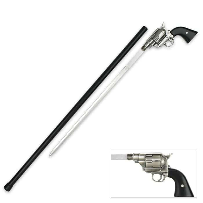 """36"""" Revolver Handle Sword Cane"""
