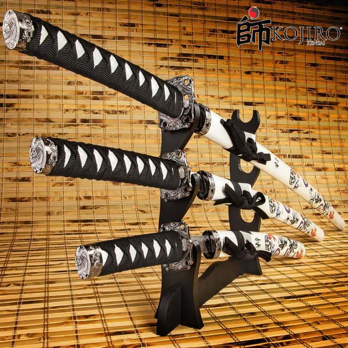 Kojiro Koi Samurai Warrior 3-Piece Sword Set
