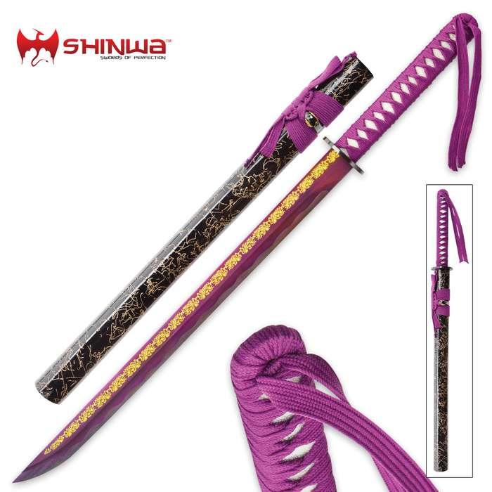 Shinwa Purple Empress Short Samurai Sword