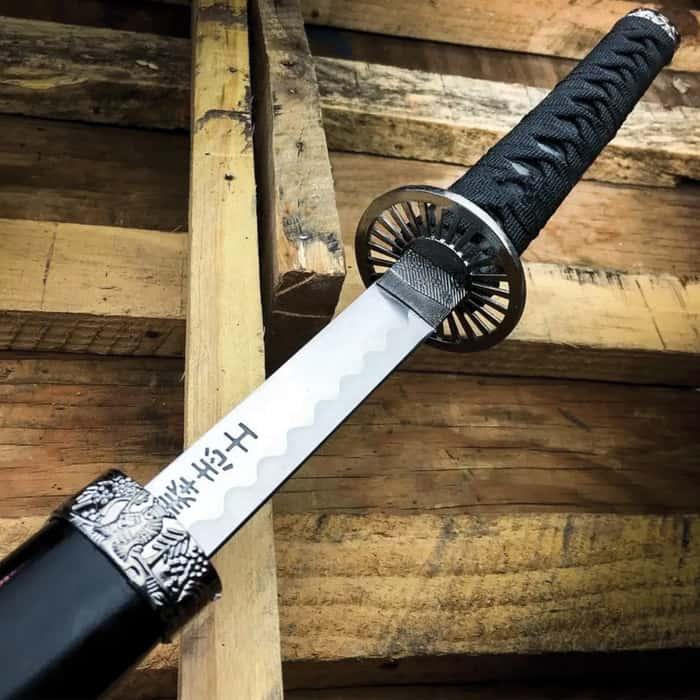 "40"" Black Dragon SAMURAI NINJA Bushido KATANA Japanese Sword Stainless Steel Blade"