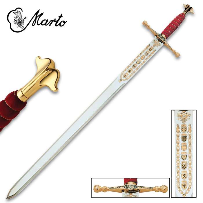 """This Sword of Charles V is a part of the exclusive collection, """"Historical, Fantastic and Legend Swords"""", made by MARTO"""
