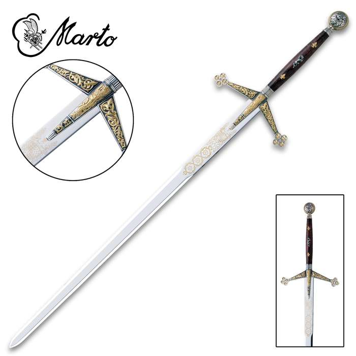 "This Silver and Gold Claymore is a part of the exclusive collection, ""Historical, Fantastic and Legend Swords"", made by MARTO"