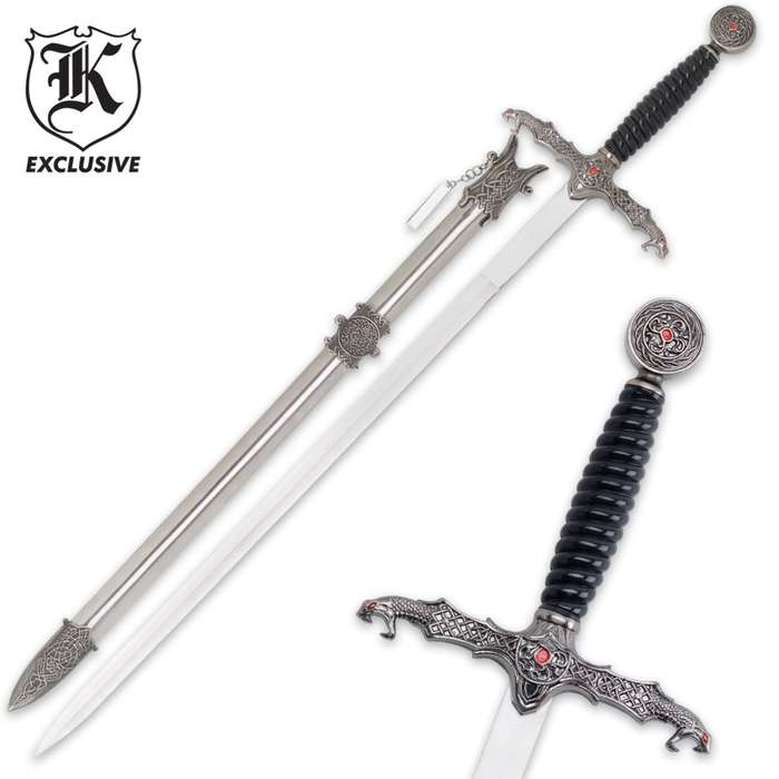 Dragons Lair Templar Long Sword & Scabbard