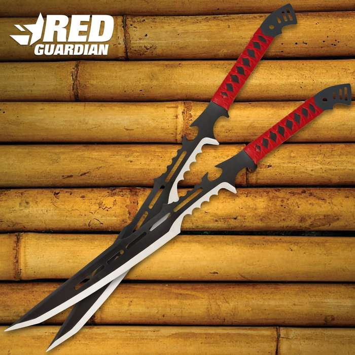 Red Guardian Fantasy Two-Piece Sword Set With Sheaths