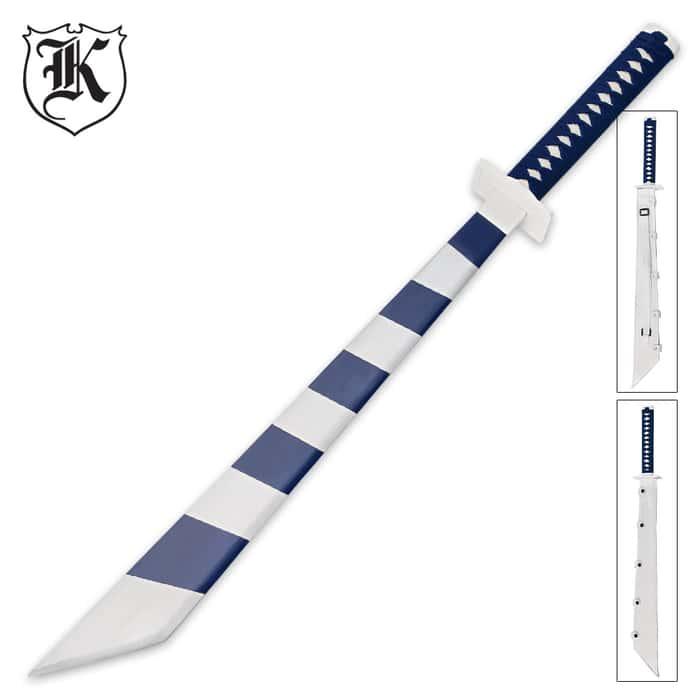 Dark Blue Stripes Gaming Sword