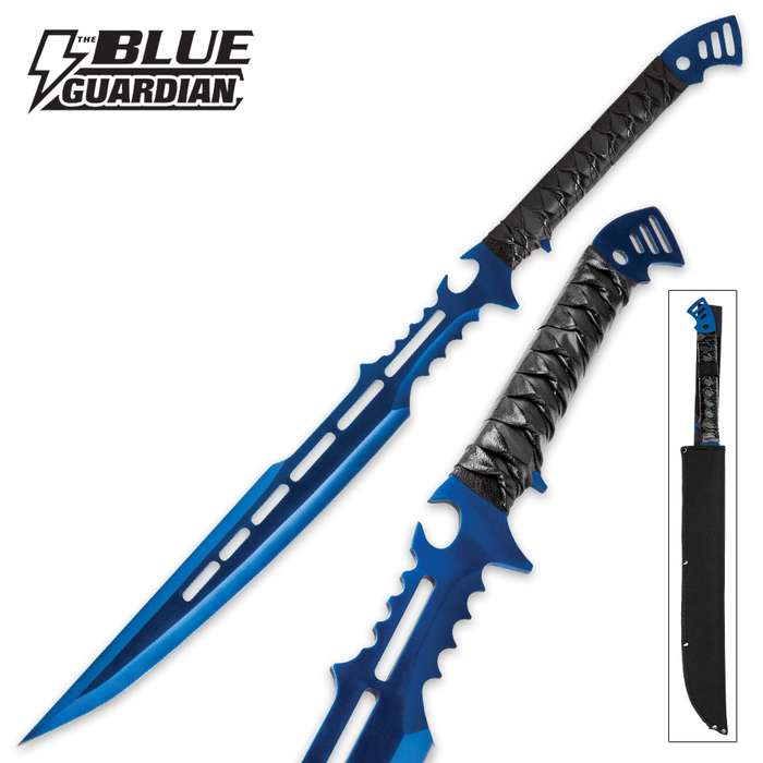 Blue Guardian Fantasy Sword With Sheath