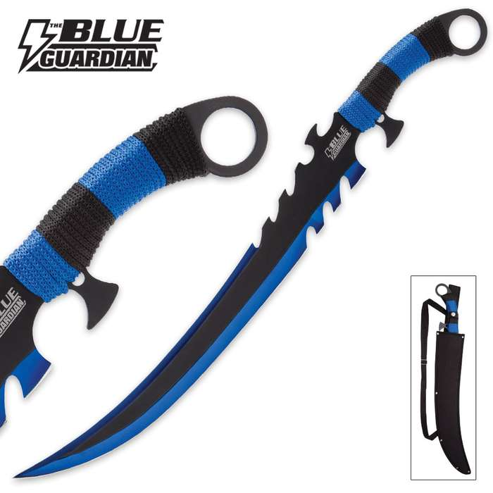 "Blue Guardian ""Thistlethorn"" Fantasy Sword with Nylon Sheath"