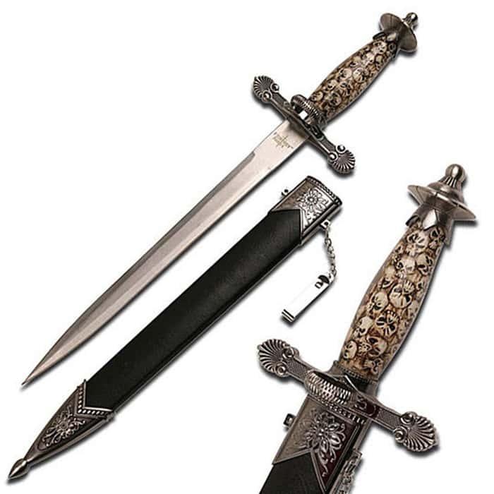 Imperial Skulls Ornamental Dagger With Scabbard