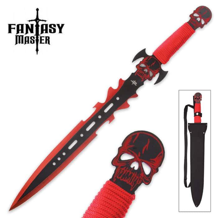 Fantasy Master RedGhoul Fantasy Short Sword with Nylon Shoulder Sheath