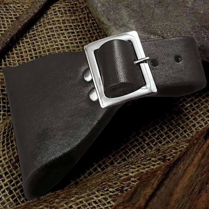 The Universal Black Leather Sword Frog is an attractive accessory for your sword collection, allowing you to stylishly carry your sword on your belt