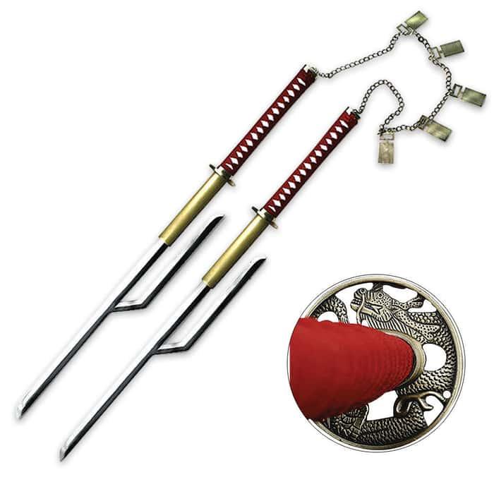 Anime Warrior Twins Two Piece Sword Set