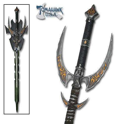 Winged Fantasy Sword with Blue Blade