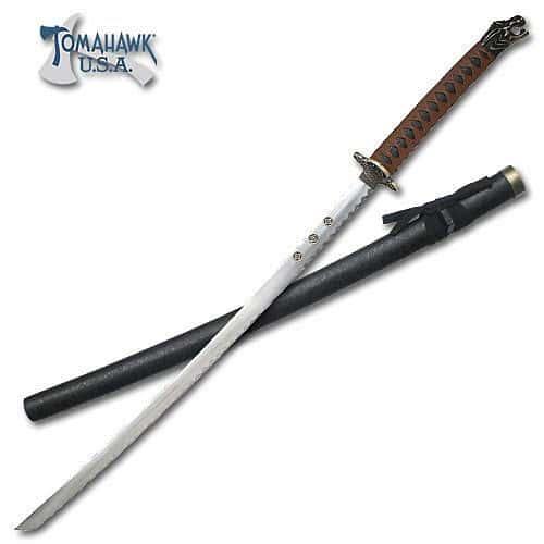 Dragon Head Brown Katana Sword