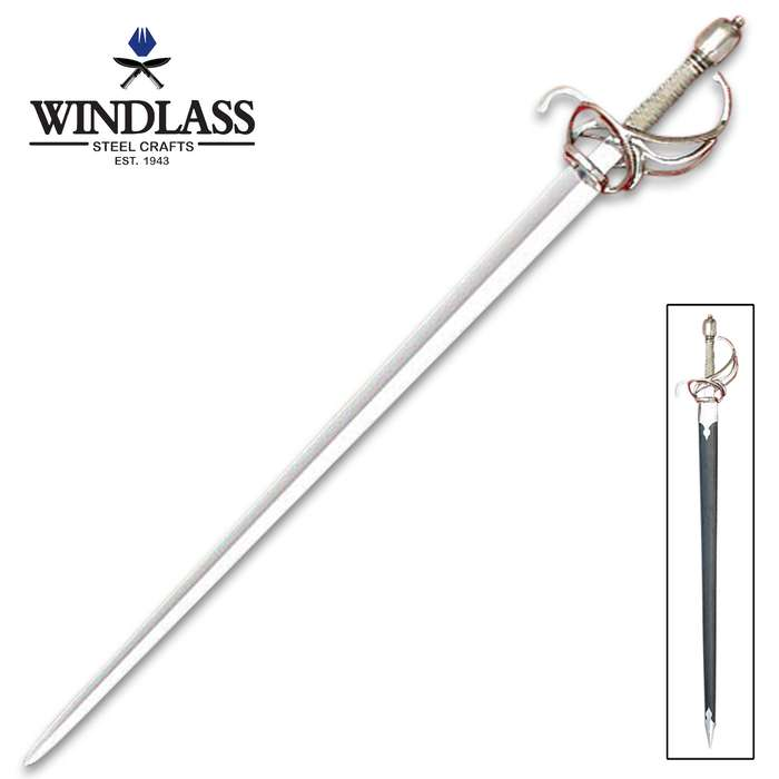 Munich Replica Sword - 1065 High Carbon Steel Blade, Wooden Handle, Steel Guard And Pommel - Length 40""