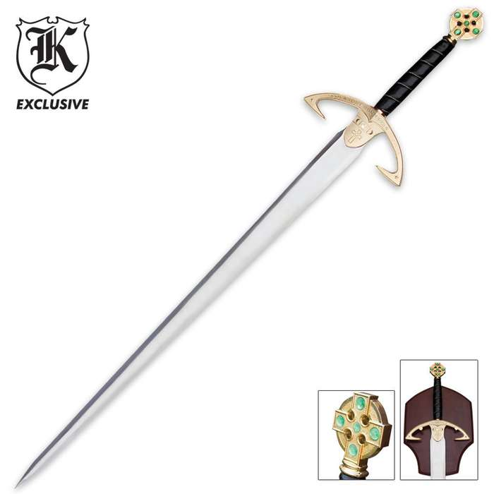 Emerald Knights Sword & Wall Plaque