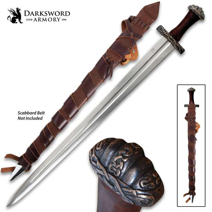 Darksword Armory Oslo Viking Sword And Scabbard - 5160 High Carbon Steel Blade, Battle-Ready - Length 37""