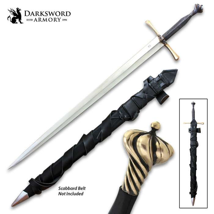 Darksword Armory Sovereign Arming Sword And Scabbard - 5160 High Carbon Steel Blade, Battle-Ready - Length 41""