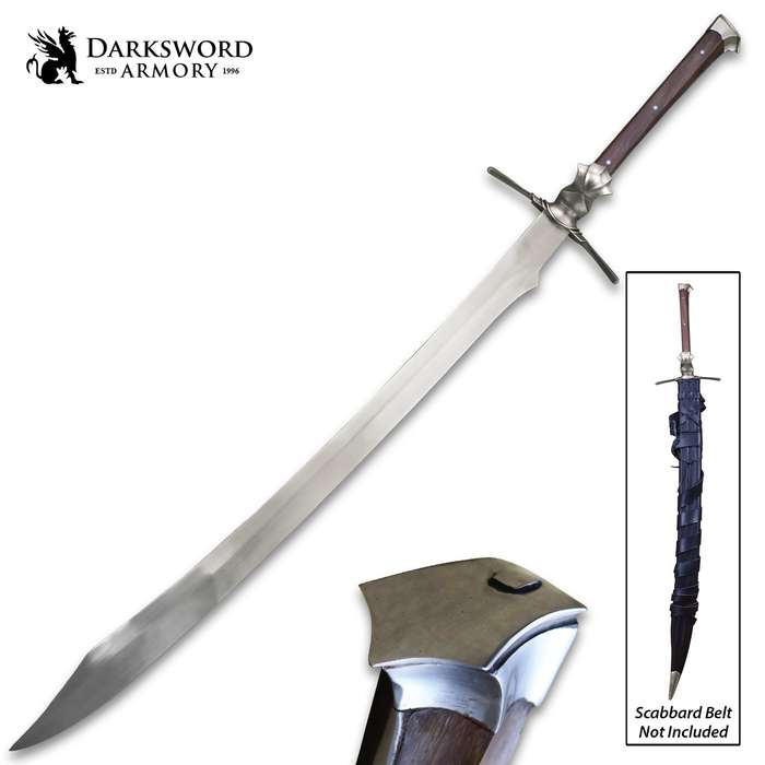 Darksword Armory Knochenbrecher Sword And Scabbard - 5160 High Carbon Steel Blade, Battle-Ready - Length 45 1/2""