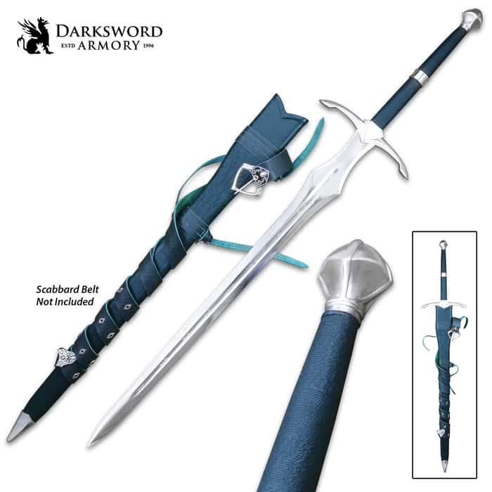 "Darksword Armory Vindaaris Sword And Scabbard - 5160 High Carbon Steel Blade, Battle-Ready - Length 50"""