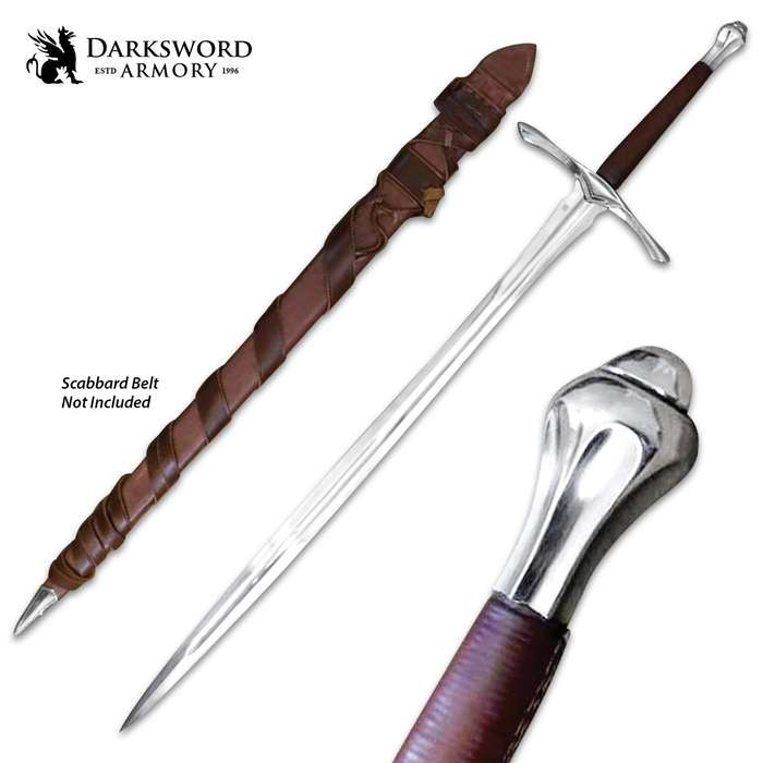 Darksword Armory Sage Sword And Scabbard - 5160 High Carbon Steel Blade, Battle-Ready - Length 46 1/2""