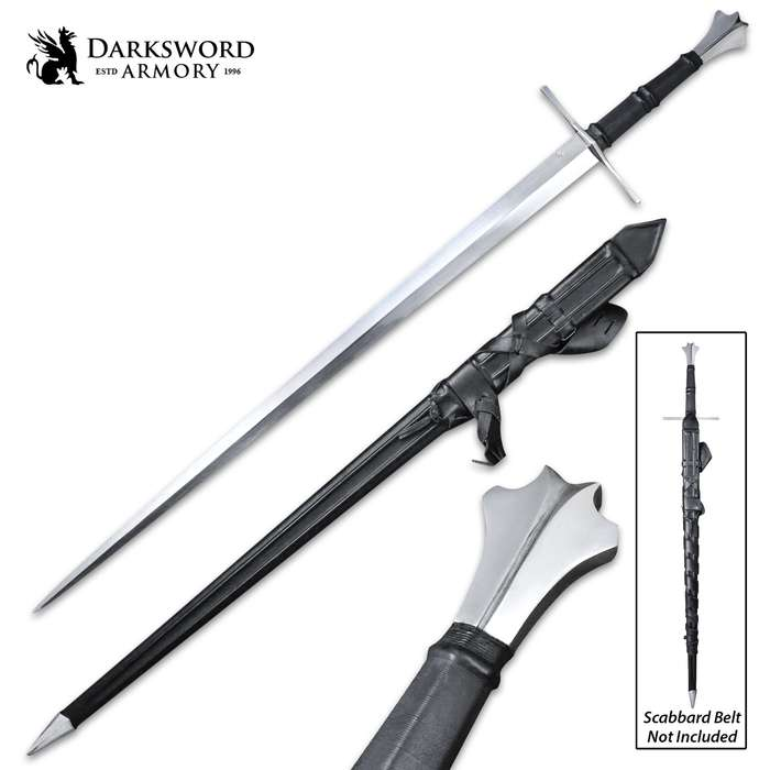 Darksword Armory Two-Handed Gothic Sword And Sword - 5160 High Carbon Steel Blade, Battle-Ready - Length 49 1/2""
