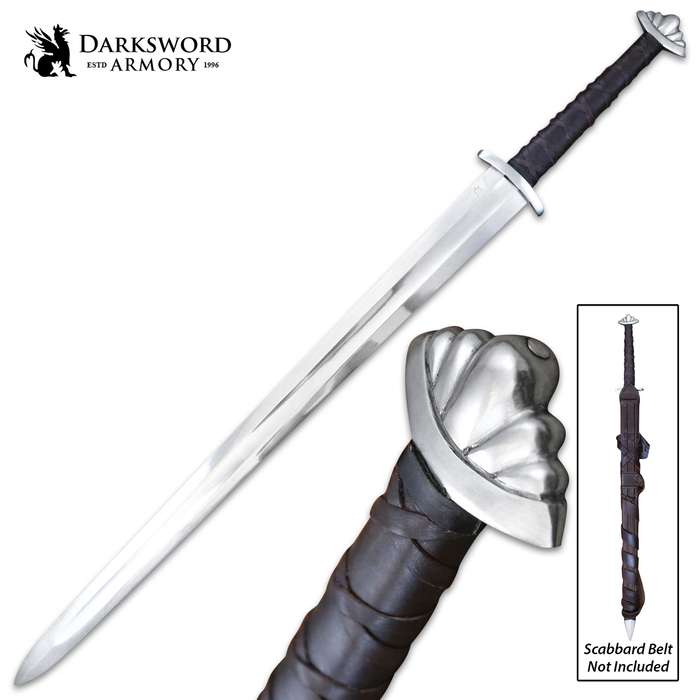 Darksword Armory Guardlan Viking Sword And Scabbard - 5160 High Carbon Steel Blade, Battle-Ready - Length 39 1/2""
