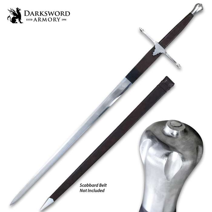 Darksword Armory William Wallace Sword And Scabbard - 5160 High Carbon Steel Blade, Battle-Ready - Length 50""