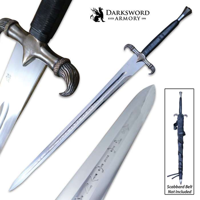Darksword Armory Erland Sword And Scabbard - 5160 High Carbon Steel Blade, Battle-Ready - Length 44""