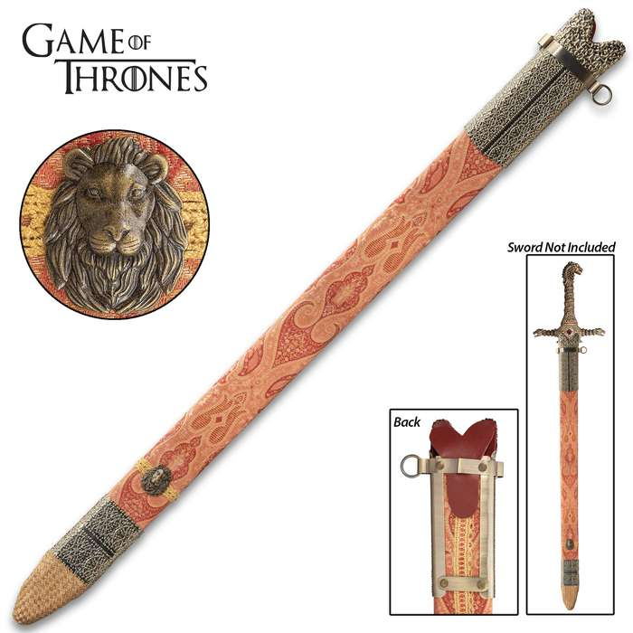 Officially Licensed Oathkeeper Scabbard - Made For Oathkeeper Sword, Fabric-Wrapped Wood, Leather And Metal Accents