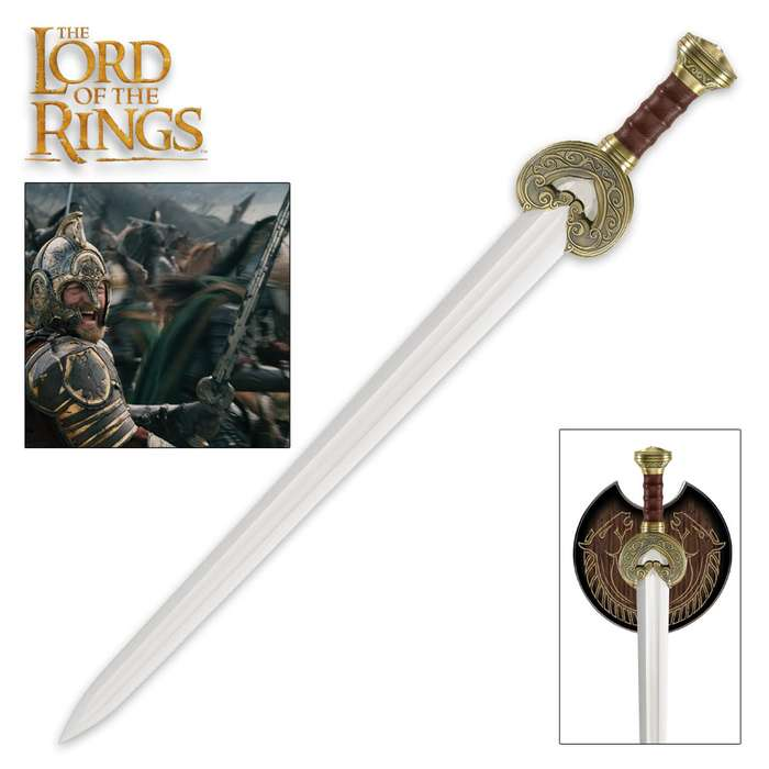 Lord of the Rings Herugrim Sword with Display Plaque