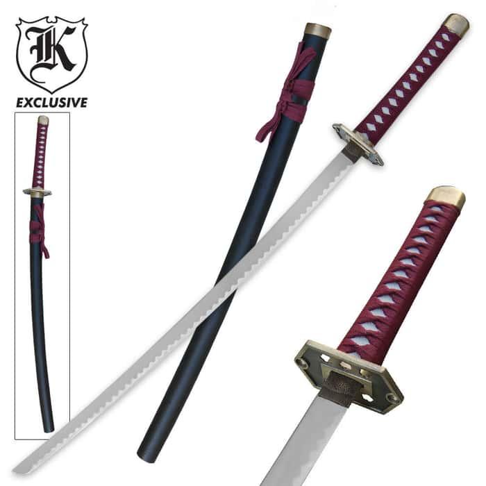 Crimson Diamond Samurai Katana Sword