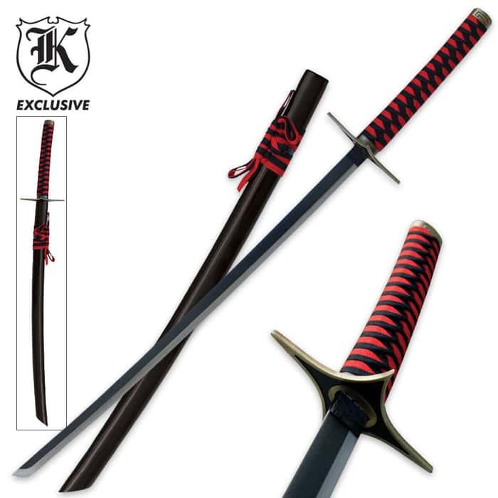 Full Size Red Twister Katana Ninja Sword