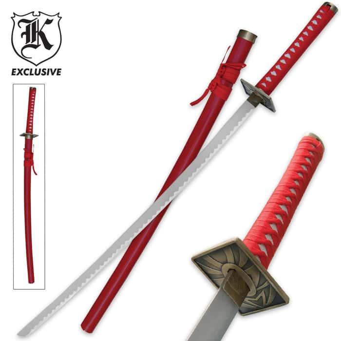 Red Spider Katana Sword