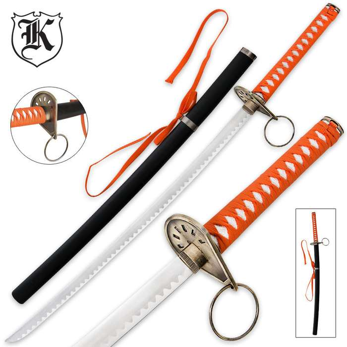Orange Tiger Katana Sword