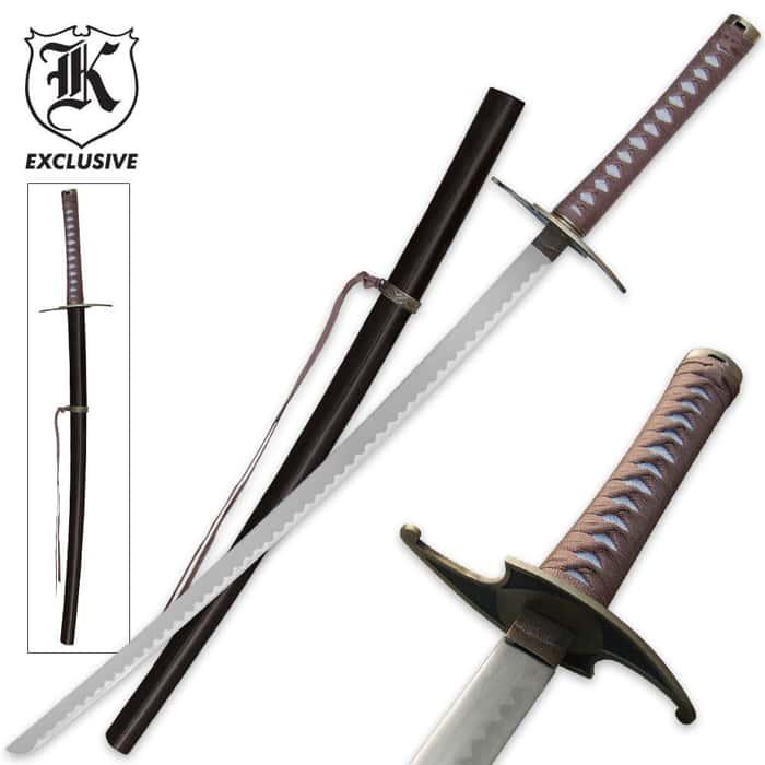 Twisted Steel Ninja Samurai Katana Sword