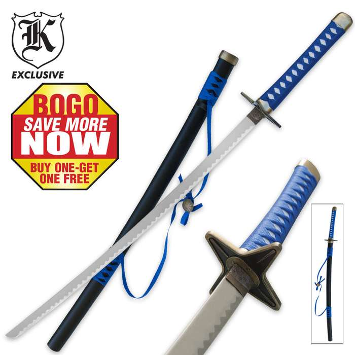 Blue Magic Katana Sword BOGO