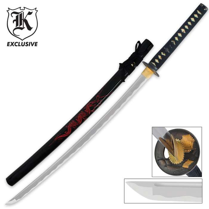 Red Dragon Warrior Sword