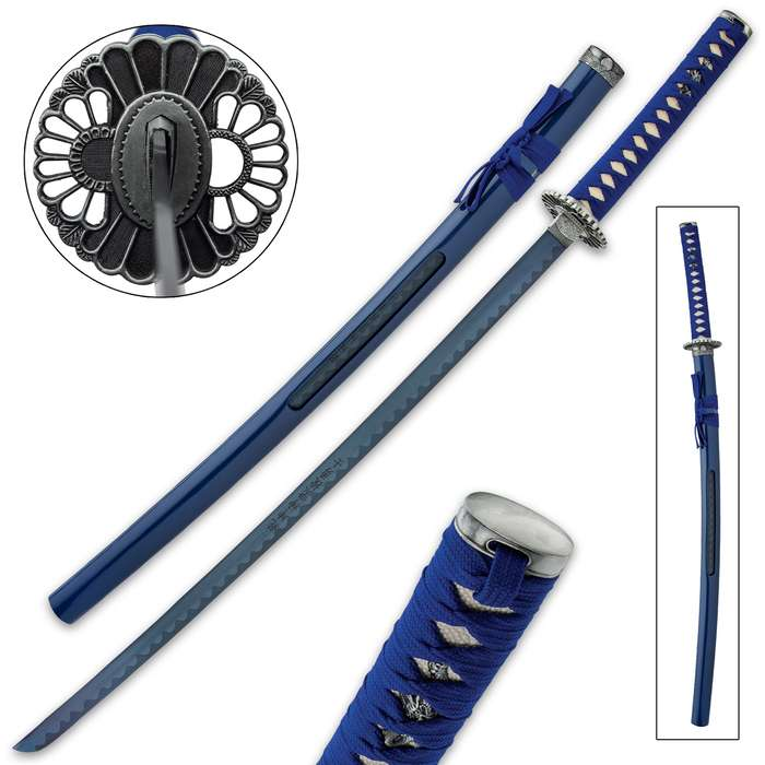 An attractive, eye-catching display sword, this katana is a collector's dream acquisition with its unique design details