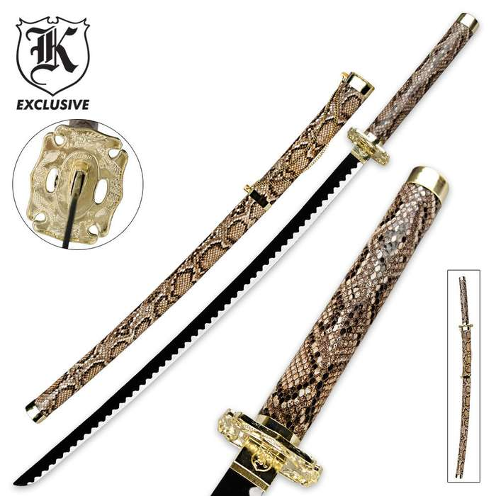 Snakeskin Katana Ninja Sword