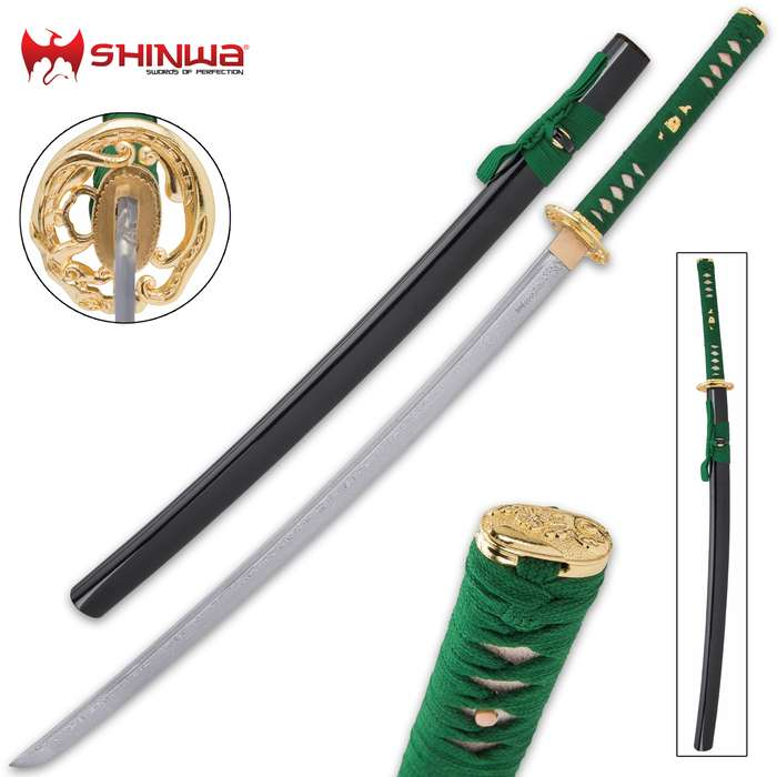 Genuine masterpiece of traditional Japanese swordcraft, handmade by seasoned artisans with meticulous attention to detail
