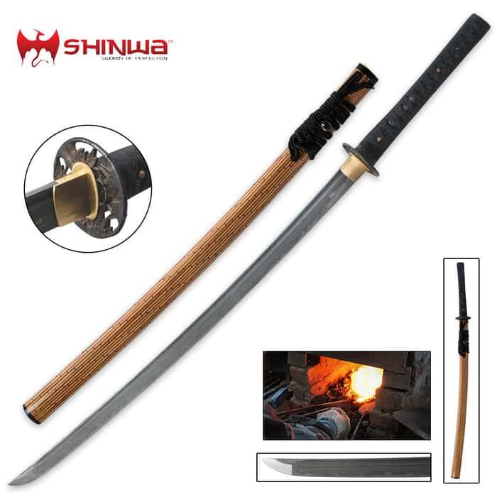 Shinwa Bamboo Katana Damascus Sword