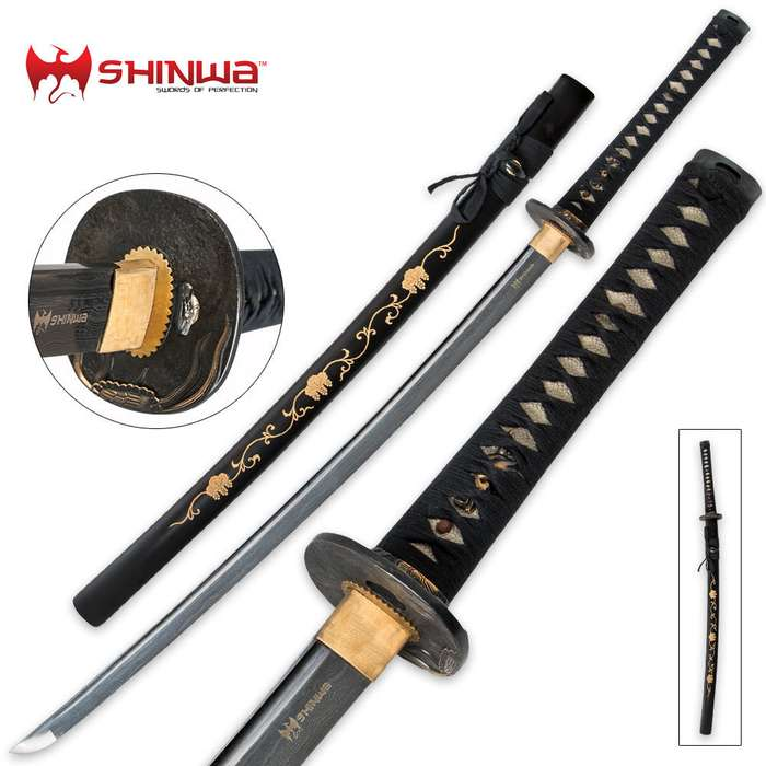 Shinwa Samurai Katana With Flying Turtle Tsuba