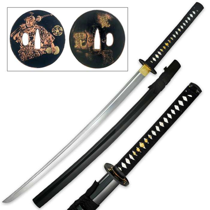 Ten Ryu 1060 Carbon Steel Samurai Warrior Katana Sword With Scabbard