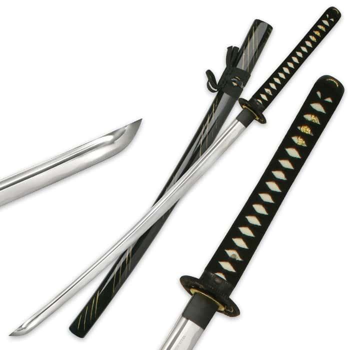 Hand Forged Dragon Tsuba Sword Black