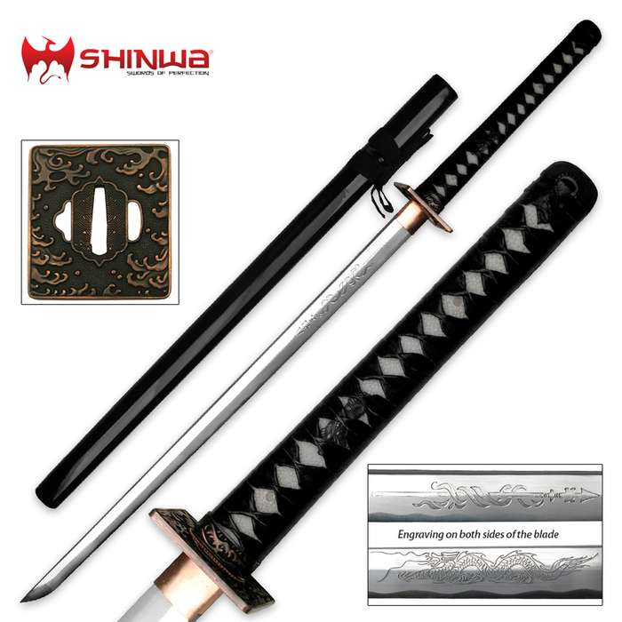 Shinwa Hand Forged Imperial Samurai Sword With Scabbard