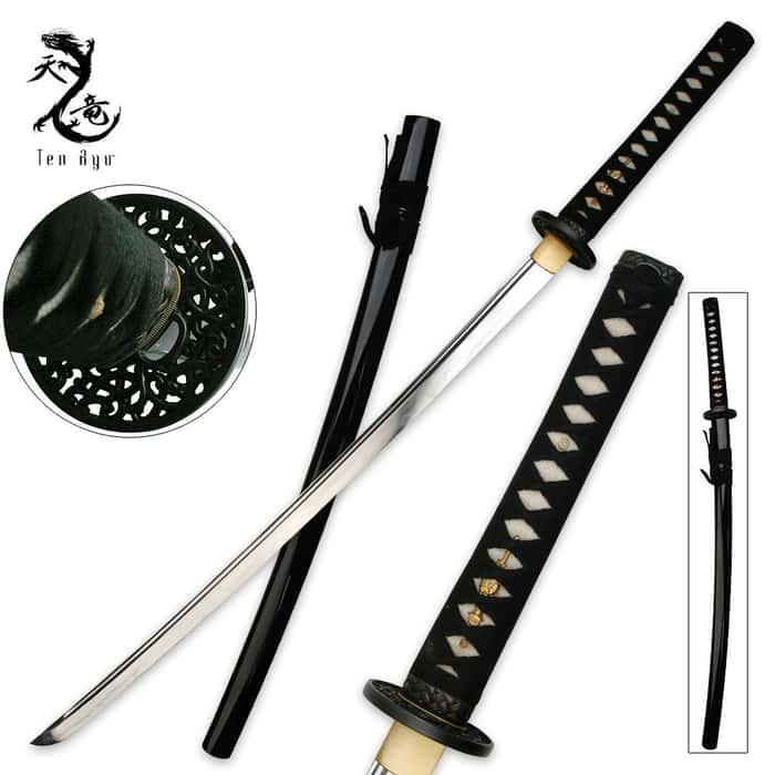 Ten Ryu Clay Tempered Katana Sword Hand Forged