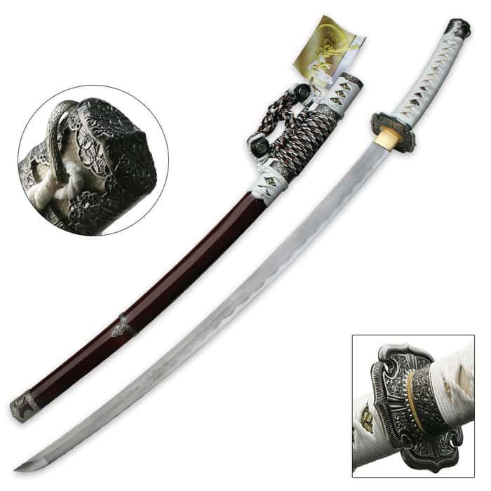 White Jasmine Hand Forged Samurai Sword
