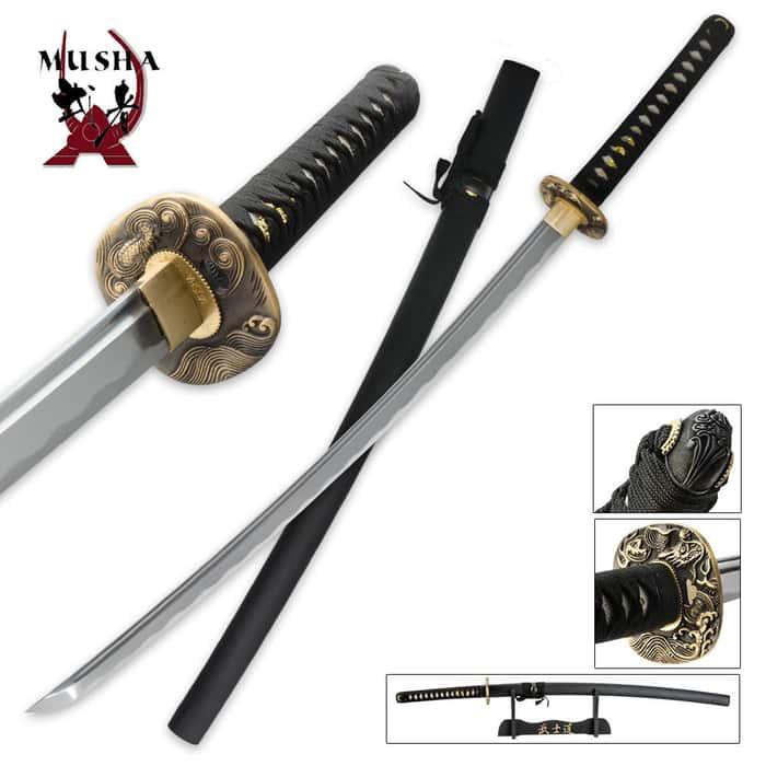 Black Dragon Hand Forged Samurai Sword