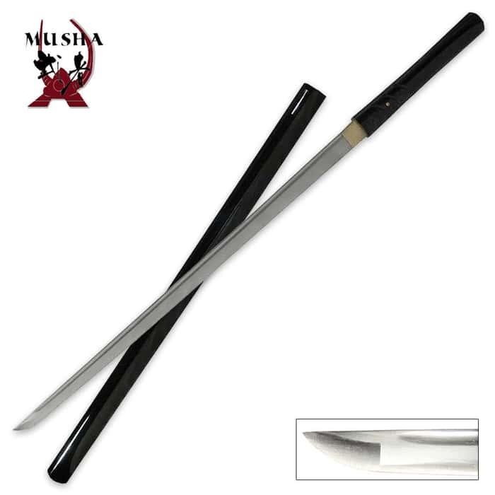 Black Zatoichi Style Hand Forged Sword