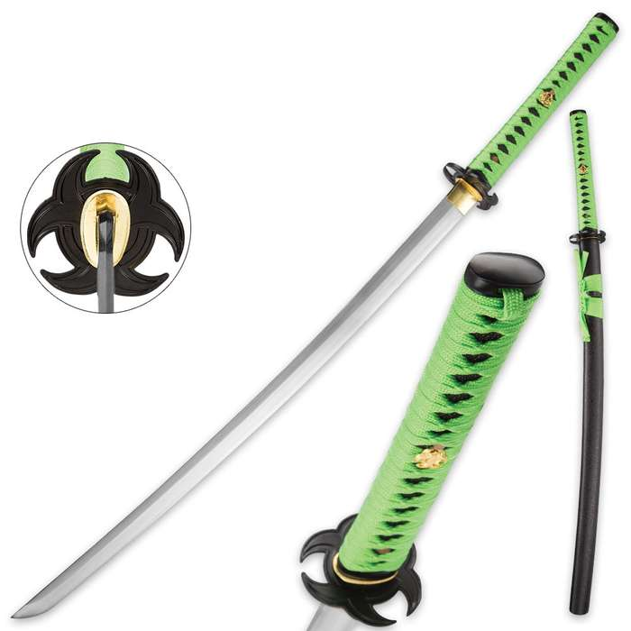 Full-Tang Zombie Samurai Sword With Extra Thick Blade